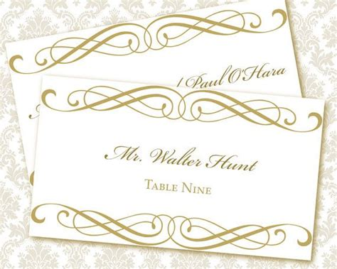 9 best images of printable wedding place card templates