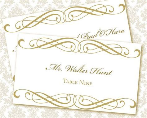 DIY Printable Wedding Place / Escort Card Template (tented