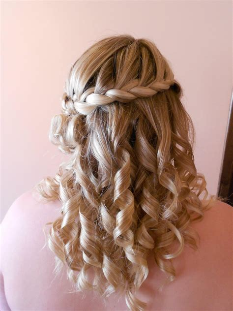 wedding hairstyles braids curls bridal hair french braid with curls bridal hair by me