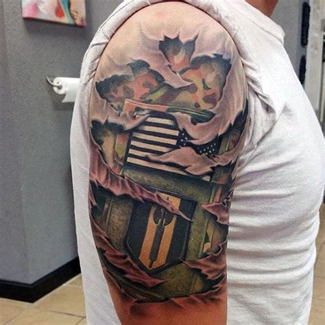 camo tattoo designs  men cool camouflage ideas