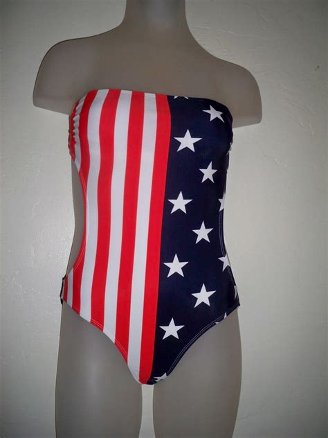 american flag one piece swimsuit women s la hearts american flag tube cutout 4th of july