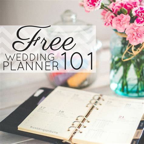 Wedding Planner Binder by Free Wedding Planner Weddings Wine