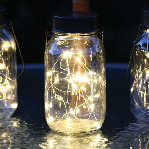 glass solar lights glass firefly jar solar light buy at qd stores