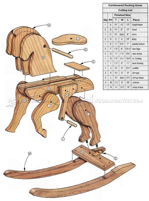 wooden rocking horse plans woodarchivist