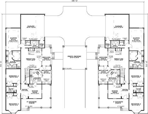 porte cochere house plans shared porte cochere 59786nd 1st floor master suite