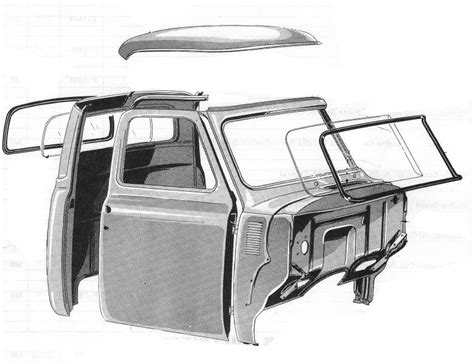 100 Doors Floor 53 by 1953 55 Ford F 100 Chop Top Glass And Roof Kit
