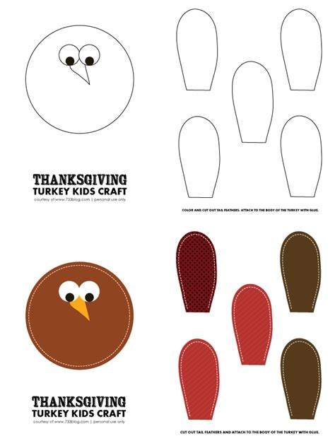 printable turkey crafts thanksgiving turkey kids craft with free printables