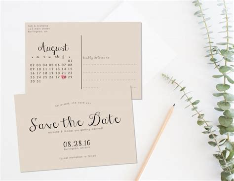 printable save the date postcard templates vastuuonminun