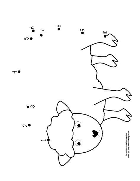 printable dot to dot sheep pin printable sheep dot to puzzle on pinterest