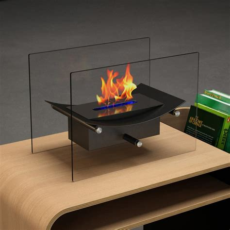 moda cavo 14 in vent free ethanol fireplace in