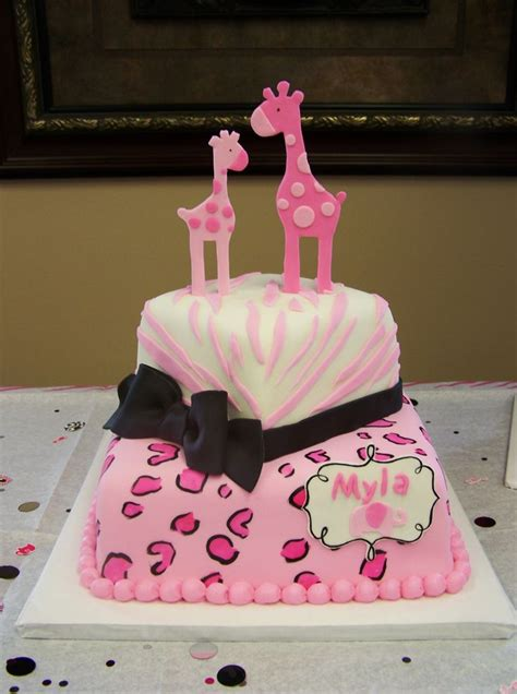 Pink Safari Theme Baby Shower by Pink Safari Themed Cake Baby Shower Cakes
