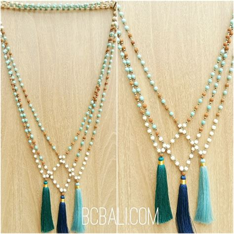 Bali Necklaces Handmade - bali handmade necklaces tassels pendant design bali