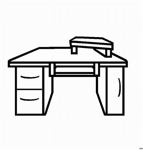 Einfacher Schreibtisch Ausmalbild Malvorlage Beruf