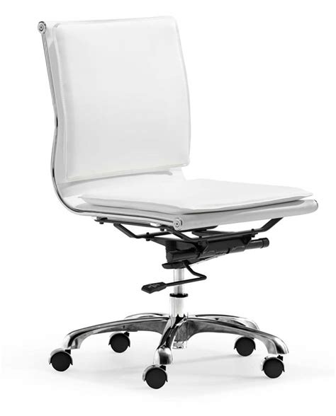 zuo modern lider plus armless office chair white 215219