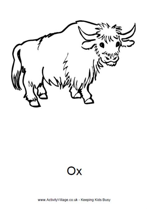 Strong Ox Coloring Coloring Pages Ox Coloring Page