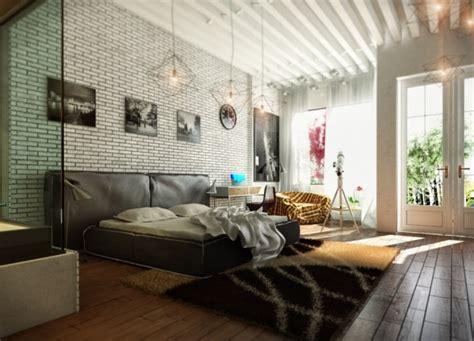 bettdecke ziegelsteine moderne schlafzimmer entworfen koj design