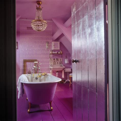 pink and purple bathroom pink eclectic bathroom modern bathrooms lonny