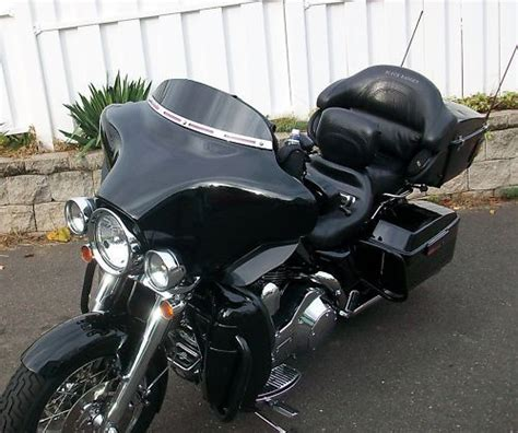 Harley Davidson Dresser by 4 Quot Black Windshield For 86 95 Harley Davidson Touring