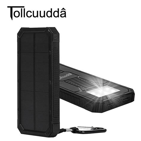 Power Bank Xiaomi Solar tollcuudda 10000mah solar poverbank for xiaomi iphone lg phone power bank charger battery