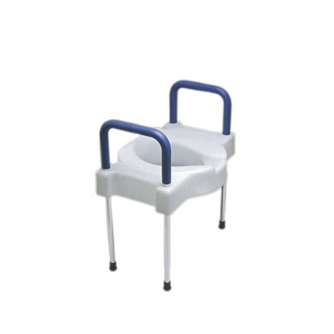 toilet seat riser with arms and legs bettymills elevated toilet seat with arms and legs
