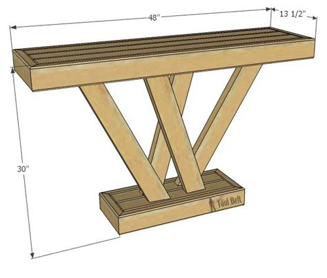 rustik 2x4 dimensions 2x4 console table tool belt