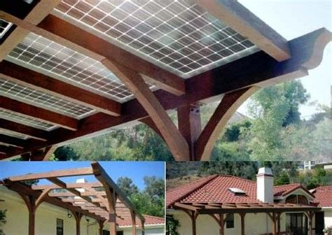 Solar Panels On A Pergola Segway Off The Grid Pinterest Solar Panel Pergola