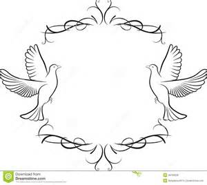 Dove and frame background stock vector image 40763536