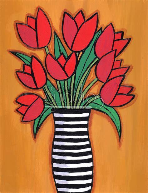 cuadros tulipanes cuadro de tulipanes pintura floral para decoraci 243 n infantil