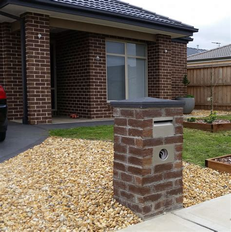 how to decorate a square brick mailbox for christmas mailboxes cost comparison aussie made letterboxes
