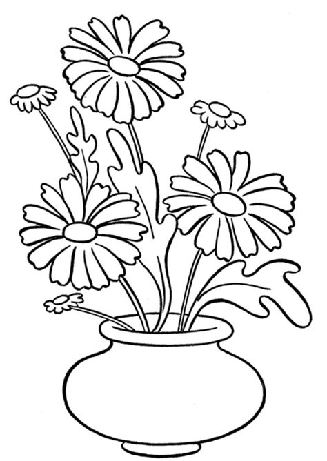 coloring page of vase with sunflowers 55 best images about kolorowanki on pinterest