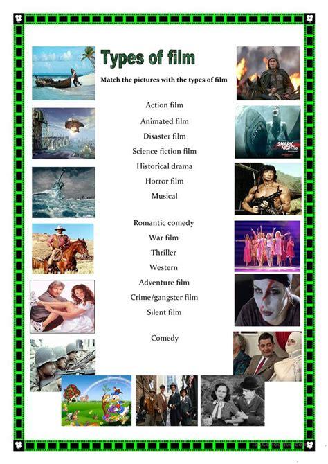 film quiz in english types of films worksheet free esl printable worksheets