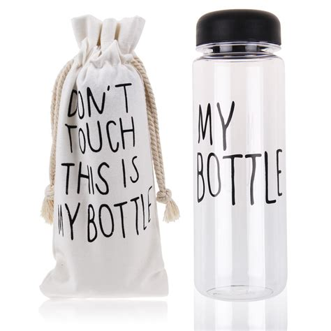 My Bottle Pouch Kanvas Putih 500ml clear my bottle sports plastic fruit juice water cup
