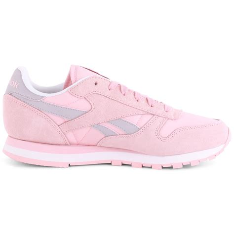 reebok classic leather seasonal i womens trainers in light