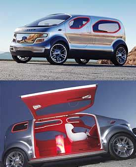 Ford Airstream Hybrid Comfort by Ford Airstream Concept Crossover Vehicle
