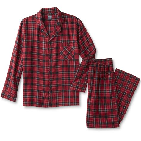 plaid pajamas hanes s flannel pajama shirt plaid sears