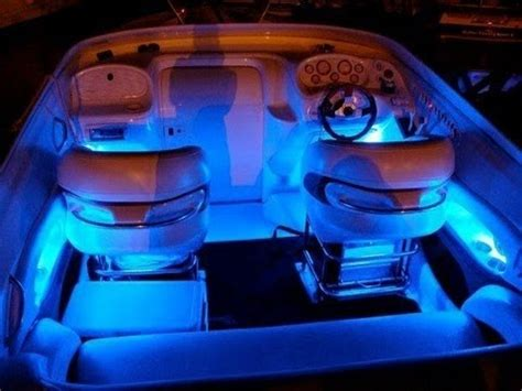 boat cabin spotlights blue led boat kit interior waterproof and wireless by
