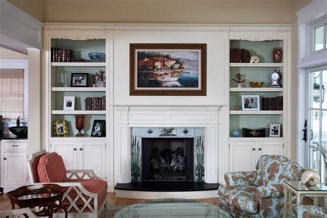decorating ideas for bookcases by fireplace family room