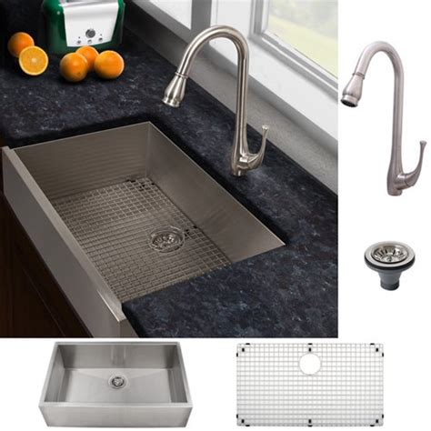 kitchen faucet and sink combo ticor sinks ticor stainless steel kitchen sink and brushed nickel faucet combo by ticor