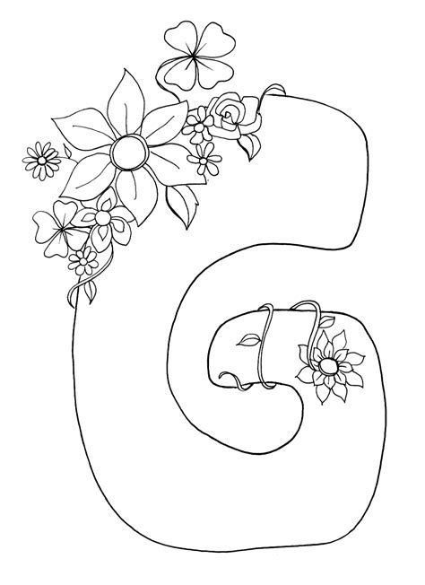 Coloring Pages Of Letter G | coloring pages for kids letter quot g quot coloring pages for kids