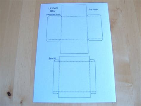 Lidded Box Template things to make and do make and decorate a lidded square box
