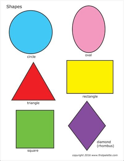 colored shapes tree shapes free printable templates