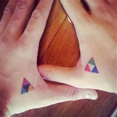 tattoo minimalist color minimal triangle color best tattoo design ideas