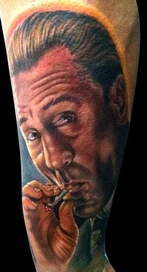 goodfellas tattoo deniro by timothy b boor tattoonow