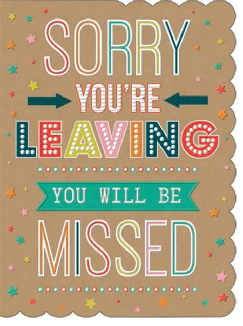 sorry you re leaving card template large leaving cards by stewart wood