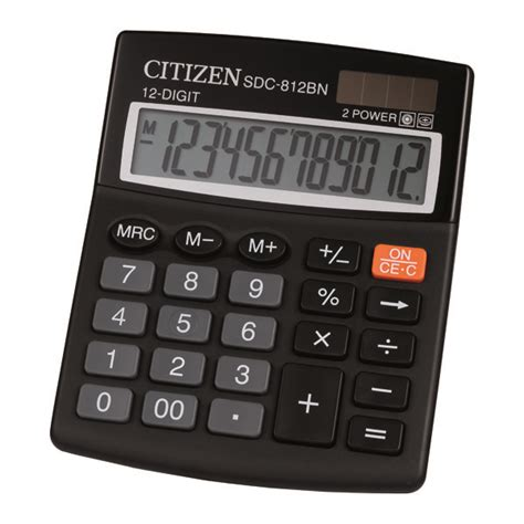 Kalkulator Citizen 12 Digit Calculator Berhitung Citizen Sdc 868l sdc 812bn citizen calculator