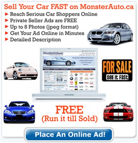 used car ads sell my used car online sell your car or truck for free