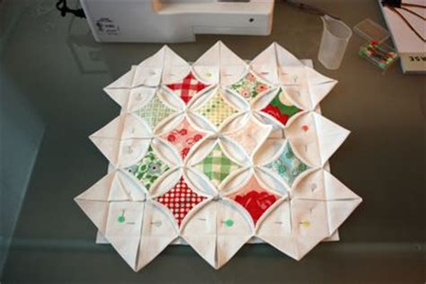 How To Make Cathedral Window Patchwork - cathedral window pillow tutorial warmth in the