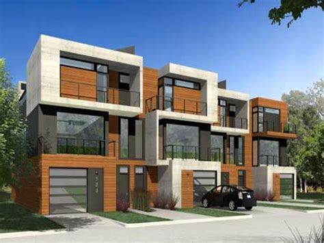 modern duplex house plans narrow modern home plans