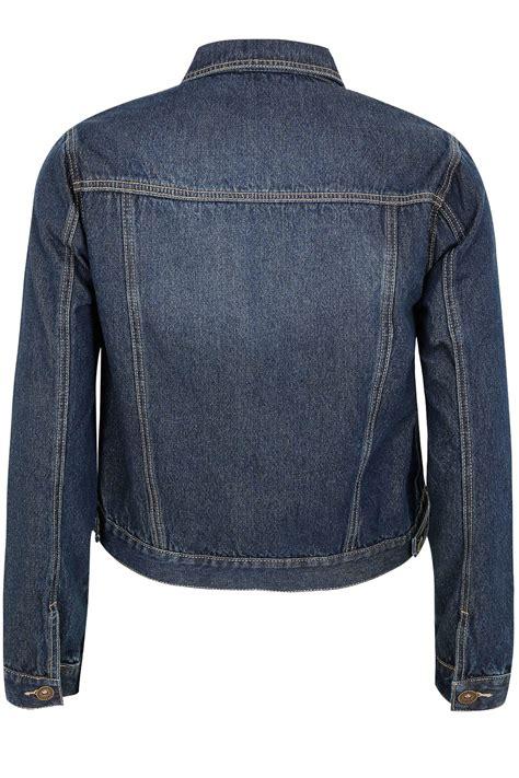 Denim Washed Jacket blue washed denim jacket plus size 16 to 36