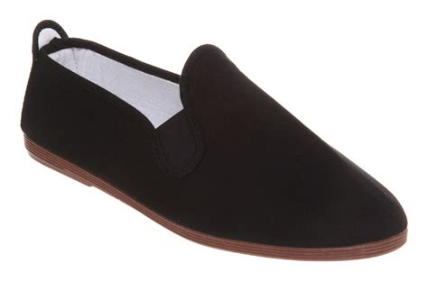mens flossy flossy plimsole black canvas casual shoes ebay